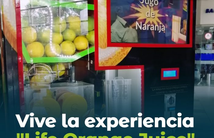 "Vive la experiencia ""Life Orange Juice"""