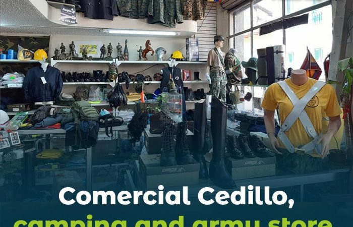 Comercial Cedillo camping and army store.